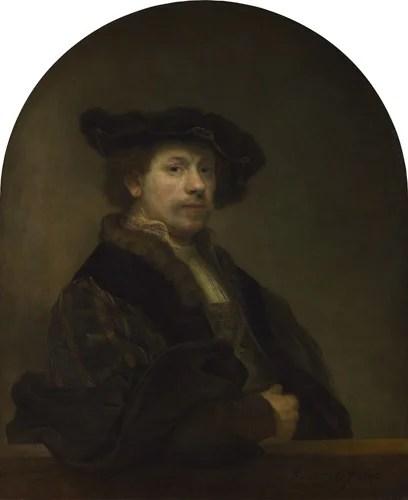 レンブラント・ハルメンスゾーン・ファン・レイン 《34歳の自画像》 1640年 油彩・カンヴァス 91×75cm