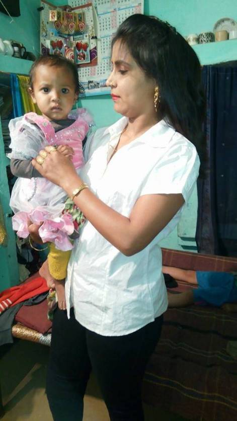 Sushma Nekpur with her daughter