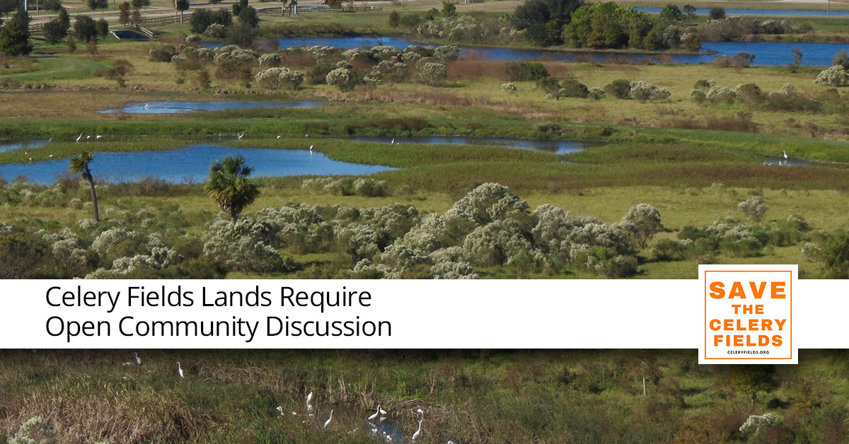 Celery Fields Lands Require Open Community Discussion