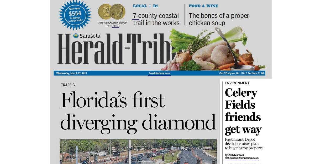 Herald Tribune: Celery Fields friends get way