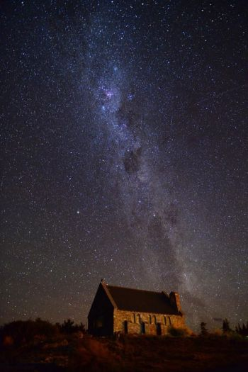 Galaxy in Lake Tekapo, New Zealand