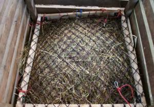 Heuraufe mit Netz