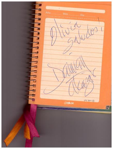 Autografo - Damián Alcázar