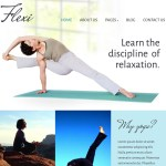 Yoga or fitness website by Celeste Graphics, affordable frelance graphic and web designer in Manila, Philippines