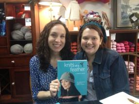 Celeste and Gretchen at Trumpet Hill Book Signing