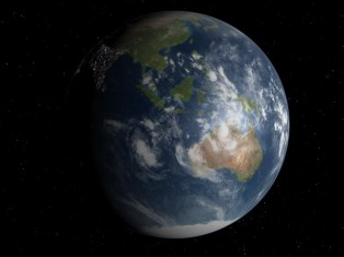 Notre Terre vue de l'espace.