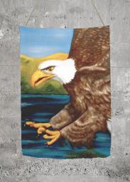 Bold Eagle large Merino Wool scarf