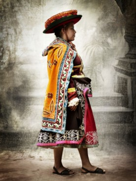 Traditional women's costume, district of Acopia, province of Acomayo, Cusco, Peru, 2007