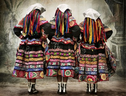 Women's costume for the Tupay dance, province of Espinar, Cusco, Peru, 2007
