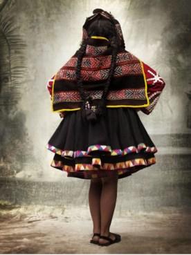 Women's festive dress Q'ero rural communities, province of Paucartmbo, Cusco, Peru, 2007