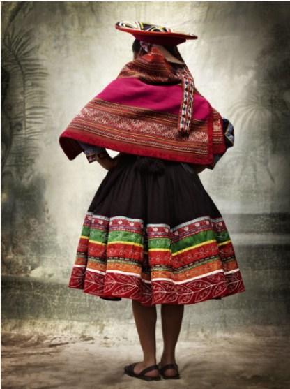 Traditional women's costume, district of Quiquijana, province of Quispicancini, Cusco, Peru, 2007