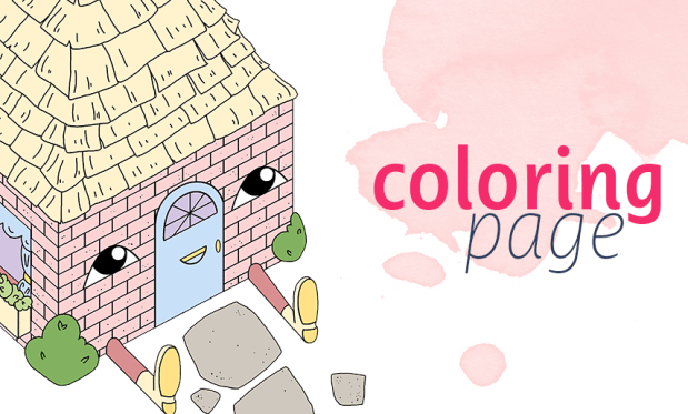 Free Coloring Page: House