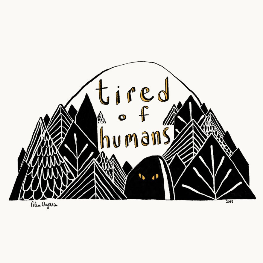 Tired of Humans, digital drawing
