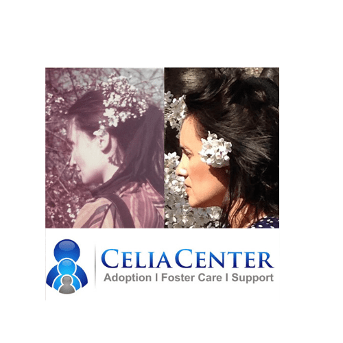 collage photos Jeanette and Celia with Celia Center logo