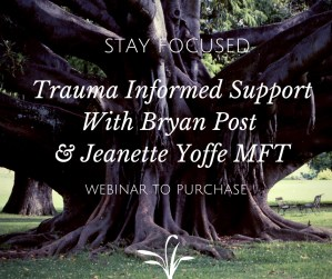 Trauma Informed Support with Bryan Post & Jeanette Yoffe MFT