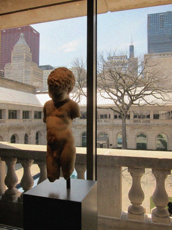 He survived (mulitated ancient statue of a boy at the Art Institute) © 2013 Celia Her City