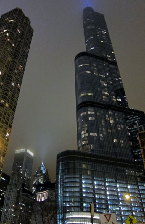 Trump Tower from the north at night © 2013 Celia Her City