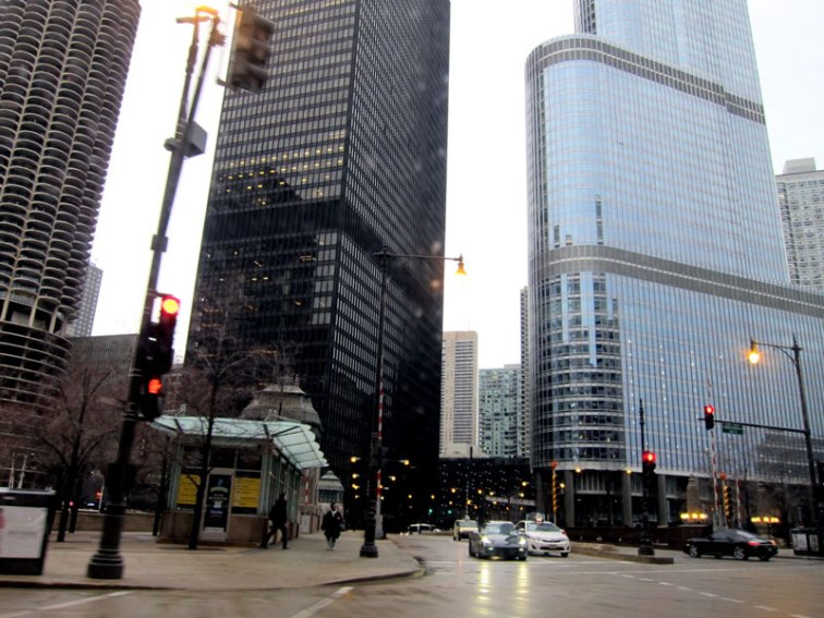 Chicago's Trump Tower, Marina City, and the IBM Building, © 2013 Celia Her City