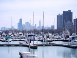 Showing the boats in Chicago's Belmont Harbor on May 1