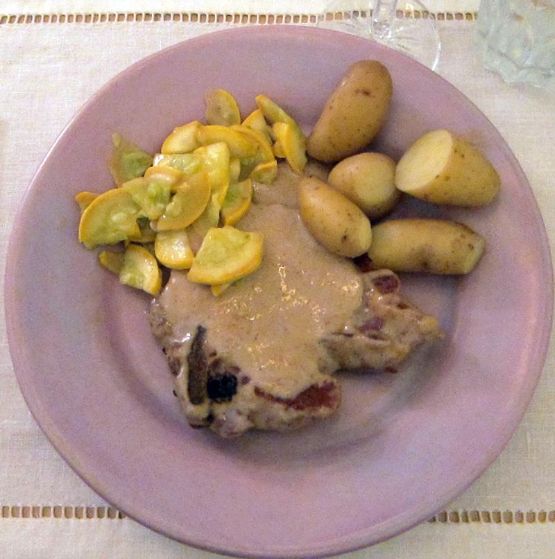 Pork chops in port wine sauce, © 2013 Celia Her City