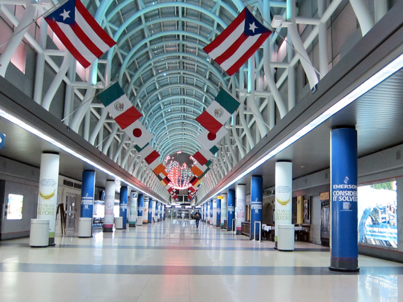 O'hare's Hall of Flags at 2am, © 2014 Celia Her City