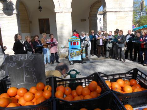 oranges and singers