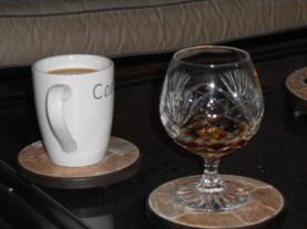 coffee and brandy