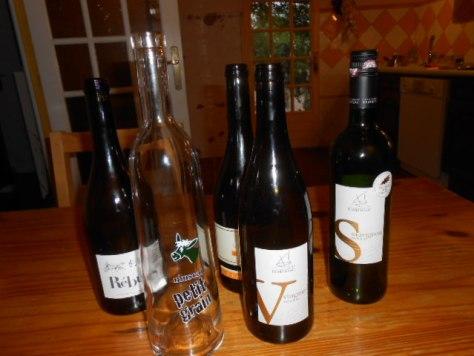 wine tasting empties