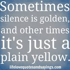 silence is dirty yellow
