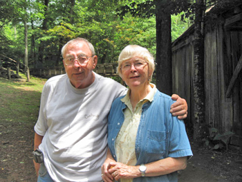 Jack Dellinger and Asheviile Author Celia Miles