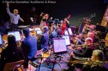 fotos de Nacho González en el Auditorio Alfredo Kraus con la Perinké Big Band