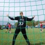 Håndball keeper i mål på Fredrikstad cup - dugnad
