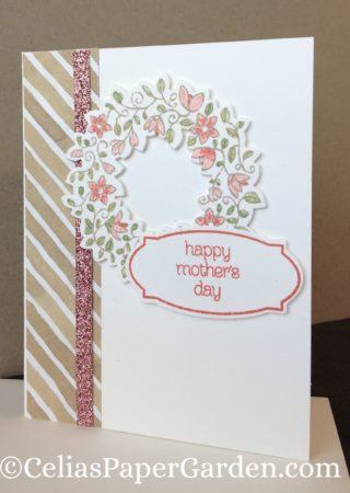 circle of spring, mother's day, card idea, celia's paper garden, card corsage, corsage, corsages, card
