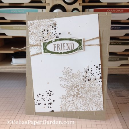 Awesomely Artistic Friendship card idea celiaspapergarden.com