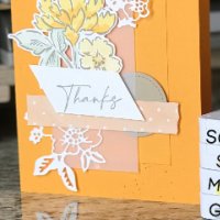 Hand-Penned Mango Melody Thank You Card