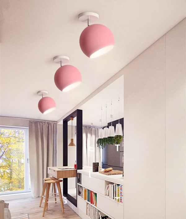 Macaroon multi-coloured retro rotatable lamp
