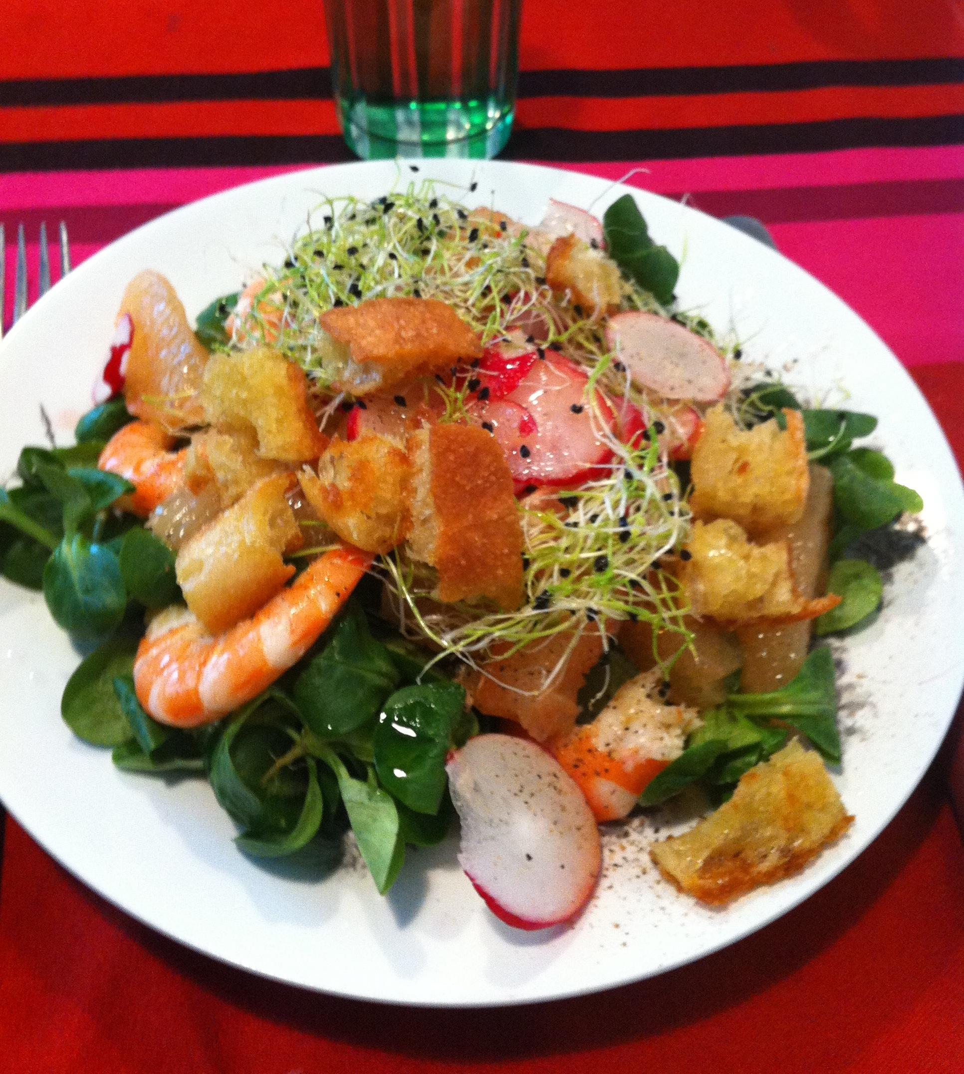 Recette De Printemps Salade De M 226 Che Pamplemousse Et