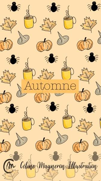 Motif automne pour fond d'écran téléphone