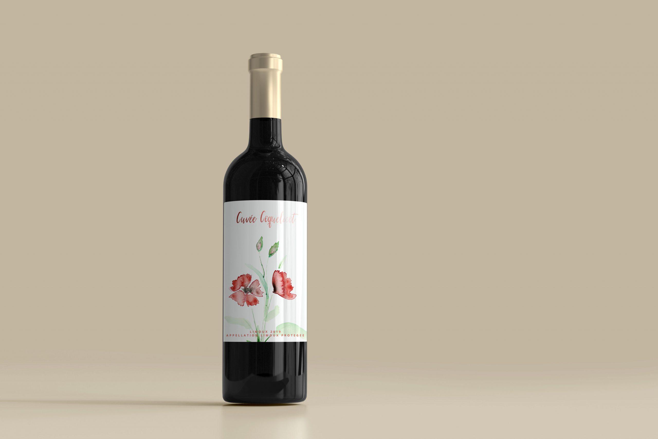 mock up vin rouge