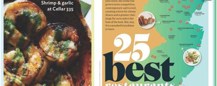 NJ Monthly: 25 Best Restaurants of 2017