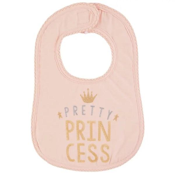 Pink Pretty Princess Glitter Baby Bib