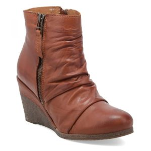 Baron Brown Leather Wedge Boot