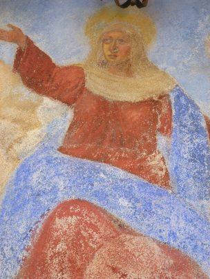 Affreschi Cappelletta Via Cavour