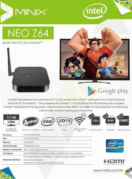 NEO Z64 Android KitKat - Leaflet