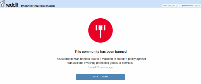 DarkNetMarkets banned on Reddit