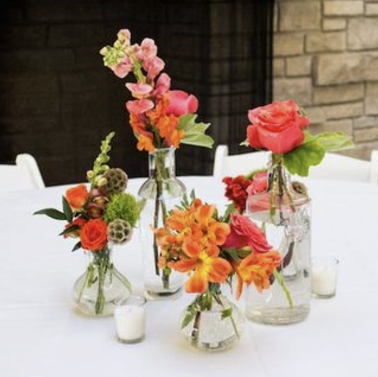 sydney wedding flower package reception bud vase