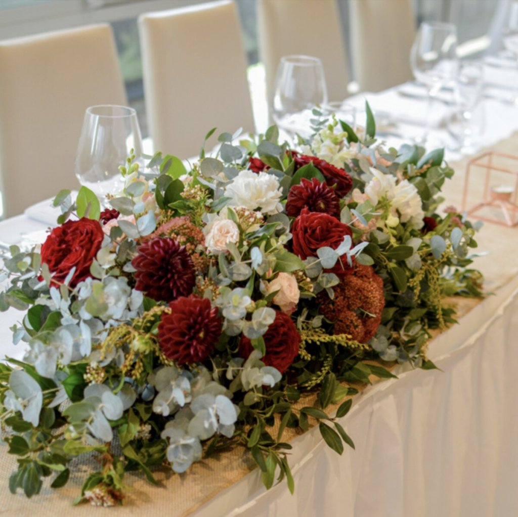 wedding flowers packages sydney price bridal table