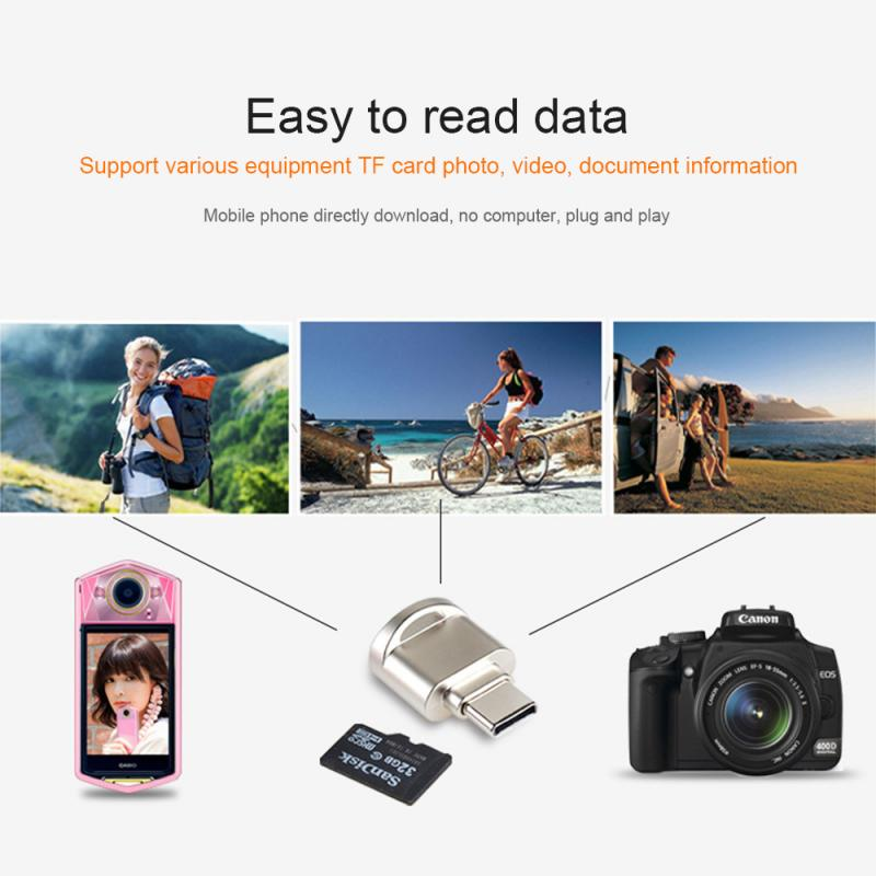 Mini Type-C USB TF Memory Card Reader Adapter For Huawei