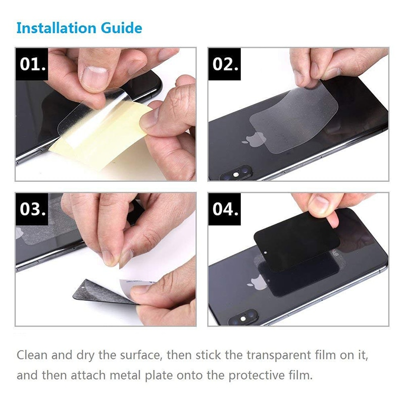 Universal Replacement Metal Plate With Adhesive for Magnetic Car Mount Phone Holder Magnet Stand Mobile Phone Drawing Iron Sheet