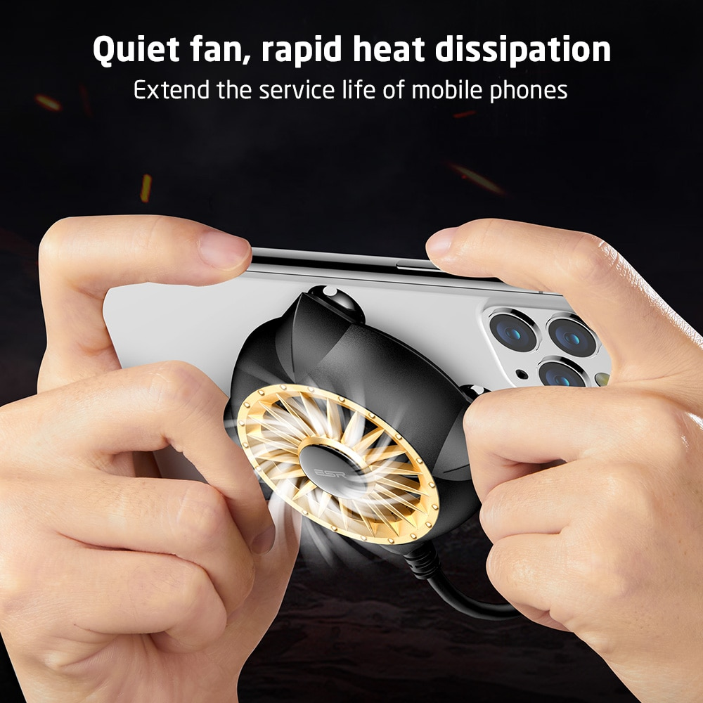 ESR Phone Cooler Cooling Fan Mobile Phone Radiator For iPhone Samsung Huawei Portable Phone Cooler For IOS Android Game Cooler